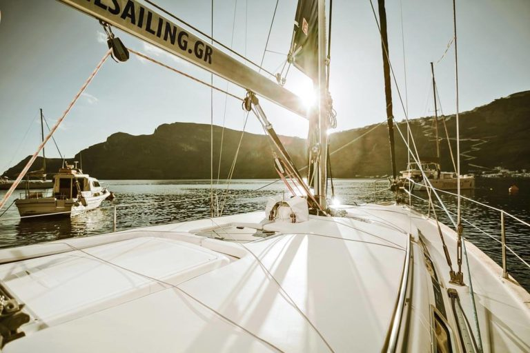 santorini sailing yacht cruise