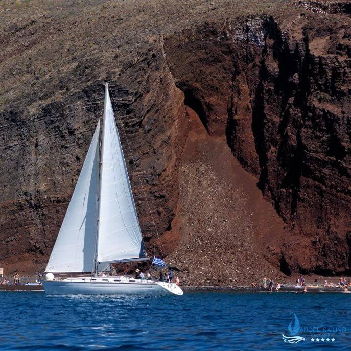 Santorini Sailing Tours | Angel Sailing Santorini Red Beach